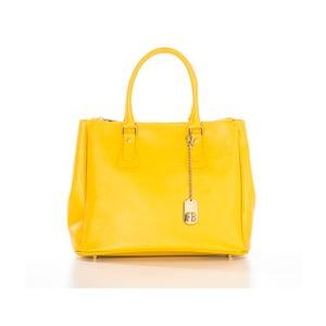 Žlutá kabelka z pravé kůže Federica Bassi Ally