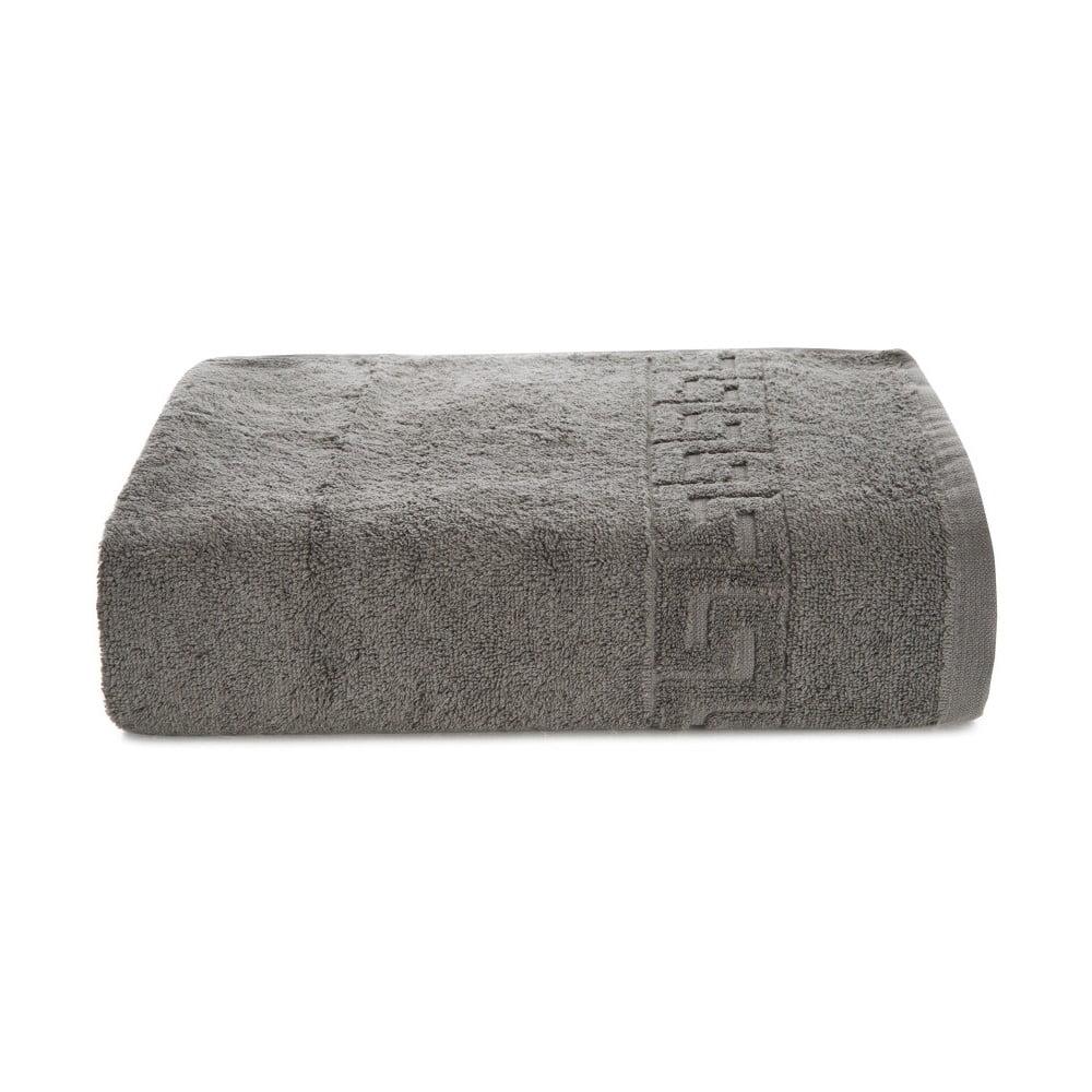Šedý bavlněný ručník Kate Louise Pauline, 50 x 90 cm