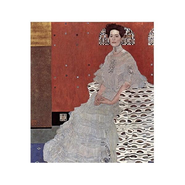 Obraz Gustav Klimt - Fritza Riedler, 60x50 cm