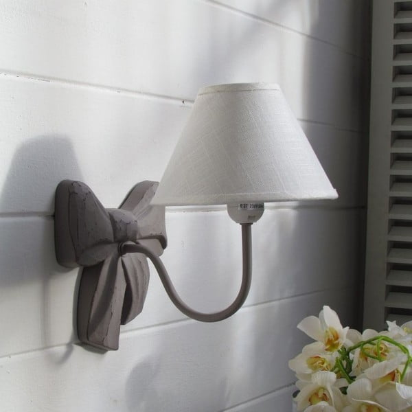 Nástěnná lampa Ribbon Grey Antique