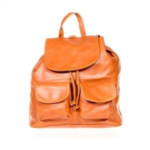 Koňakově hnědý kožený batoh Italia in Pogress Jane