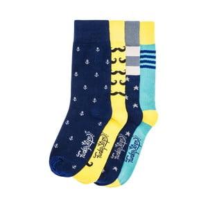 Sada 4 párů ponožek Funky Steps Pela, univerzální velikost