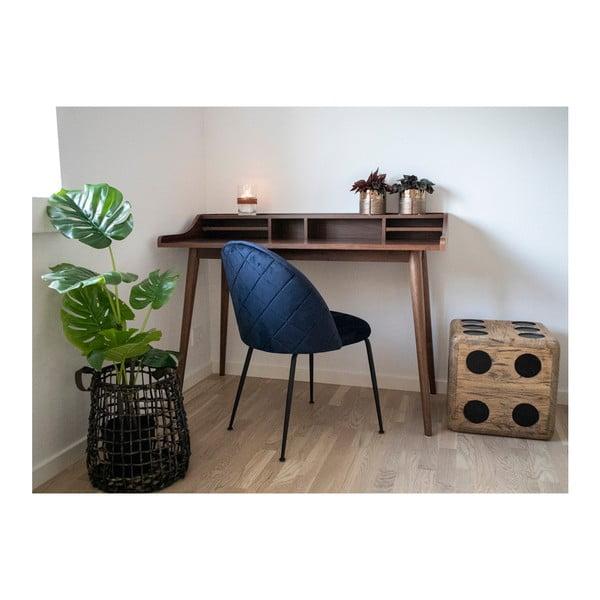 Sada 2 modrých jídelních židlí s nohami ve zlaté barvě House Nordic Geneve