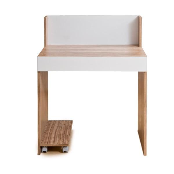 Pracovní stolek Bend, bílá/samba