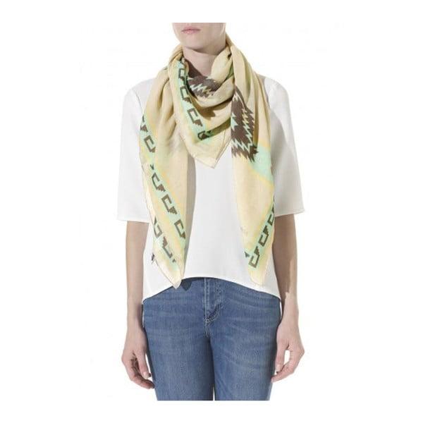 Vlněný šátek s kašmírem Lou Lou Turquoise, 130x130 cm