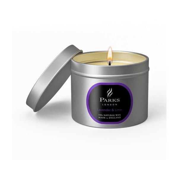 Lavender levendula és lime illatú gyertya, égési idő 25 óra - Parks Candles London