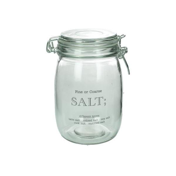 Skleněná dóza na sůl Salt