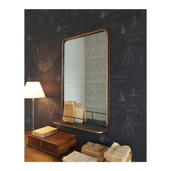 Nástěnné zrcadlo s poličkou Orchidea Milano Orient Express, 81 x 51 cm