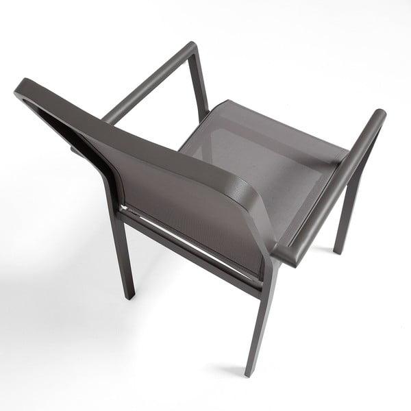 Sada 4 šedých židlí La Forma Renna