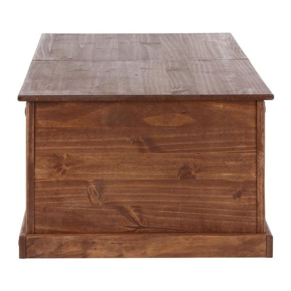 Tmavě hnědý odkládací stolek z borovicového dřeva Støraa Alfredo