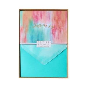 Set 10 felicitări cu plic  Portico Designs FOIL Summer