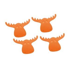 RUDOLF, 4 podložky pod sklenice, oranžové