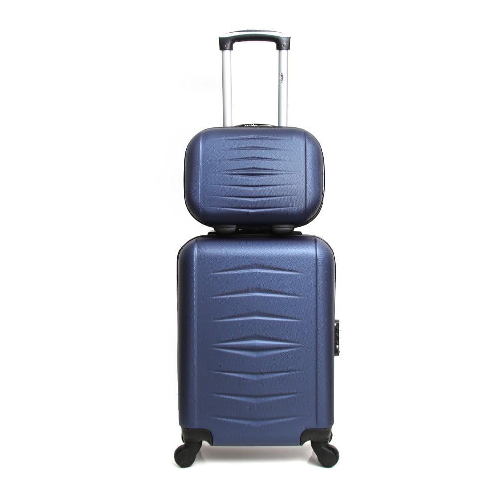 Sada 2 tmavě modrých cestovních kufrů na kolečkách Infinitif Oviedo