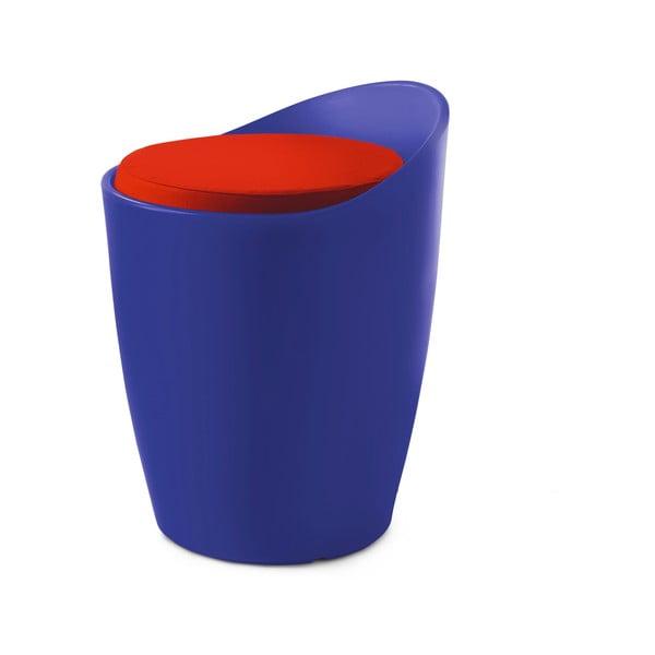 Stolička Otto do interiéru i exteriéru, modrá