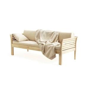 Ručně vyráběná konstrukce rozkládací pohovky z masivního březového dřeva Kiteen Kanerva, 190x75cm