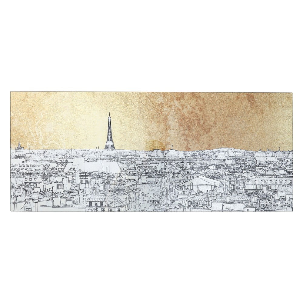 Zasklený obraz Kare Design Paris View 120 x 50 cm