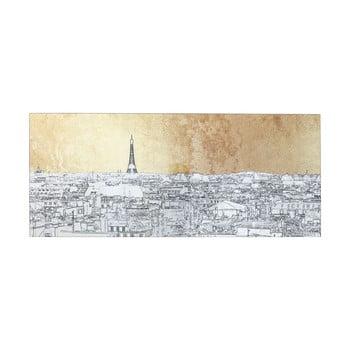Tablou pe sticlă Kare Design Paris View, 120 x 50 cm