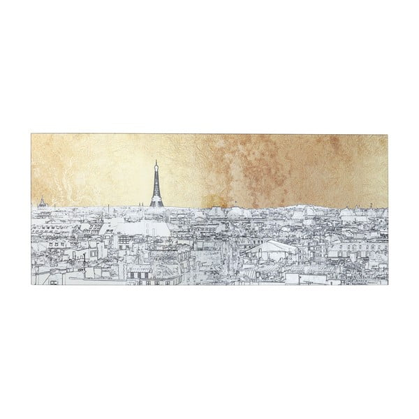 Zasklený obraz Kare Design Paris View, 120 x 50 cm