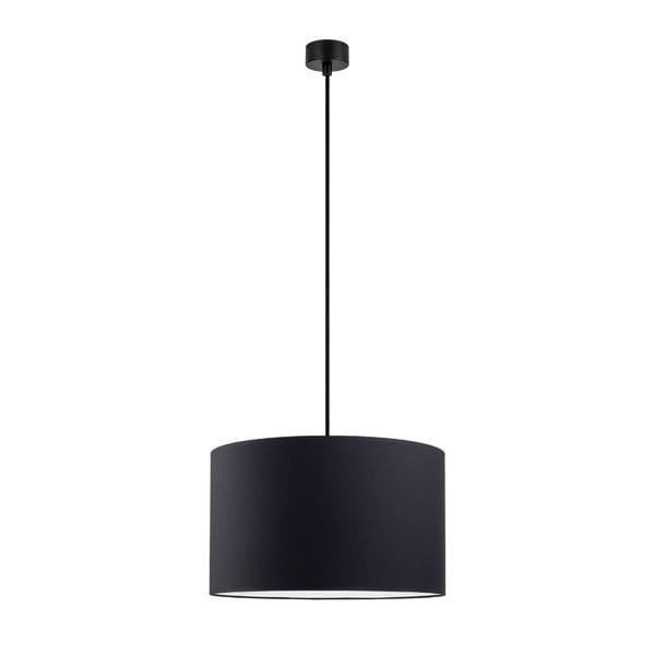 Mika fekete függőlámpa fekete kábellel, ∅ 36 cm - Sotto Luce