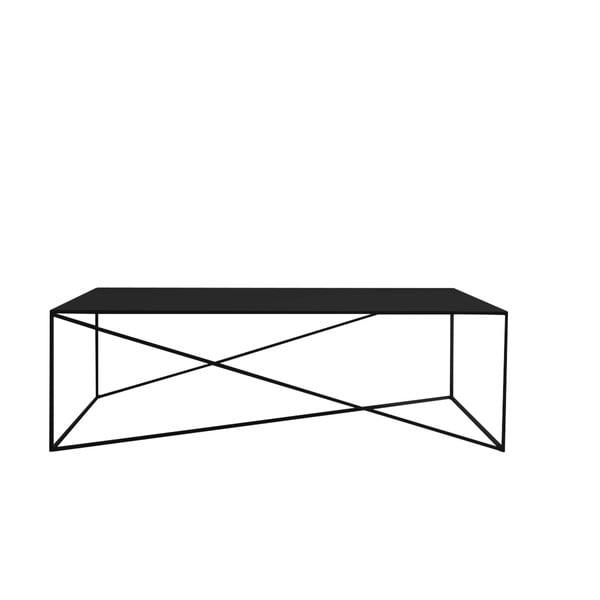 Čierny konferenčný stolík Custom Form Memo, dĺžka 140 cm