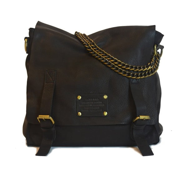 Geantă vintage din piele O My Bag Sleazy Jane, negru