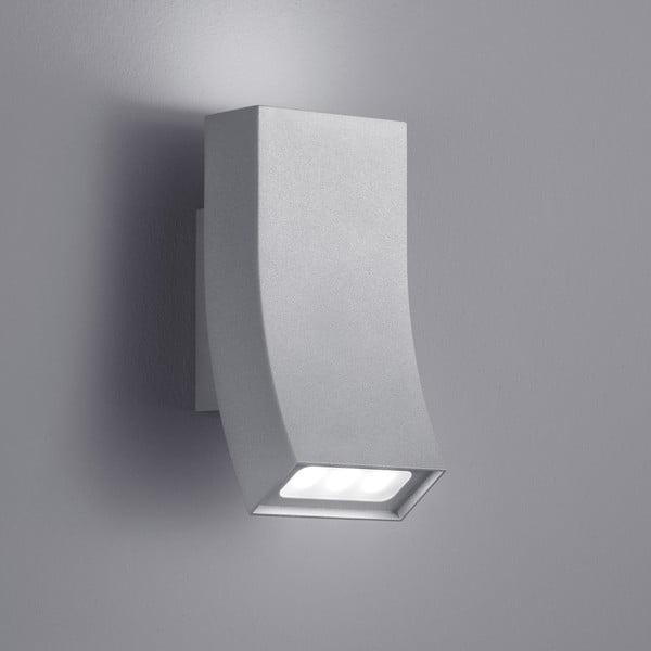 Světle šedé venkovní nástěnné svítidlo Trio Oka, výška17 cm