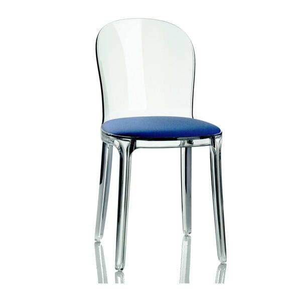 Židle s modrým sedákem Magis Vanity