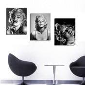 3dílný obraz Marilyn, 45x90 cm