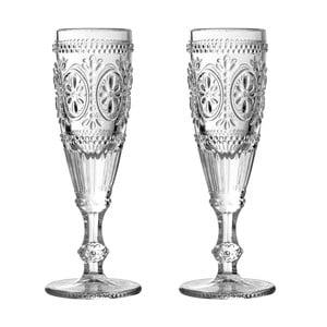 Sada 2 sklenic na šampaňské Premier Housewares Fleur, 170 ml