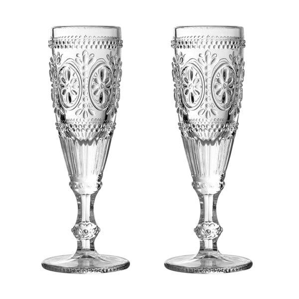 Zestaw 2 kieliszków do szampana Premier Housewares Fleur, 170 ml