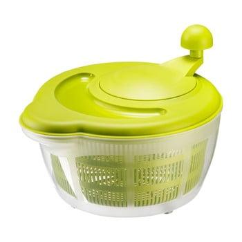 Strecurătoare cu centrifugă pentru salată Westmark Fortuna, 0,5 l, verde