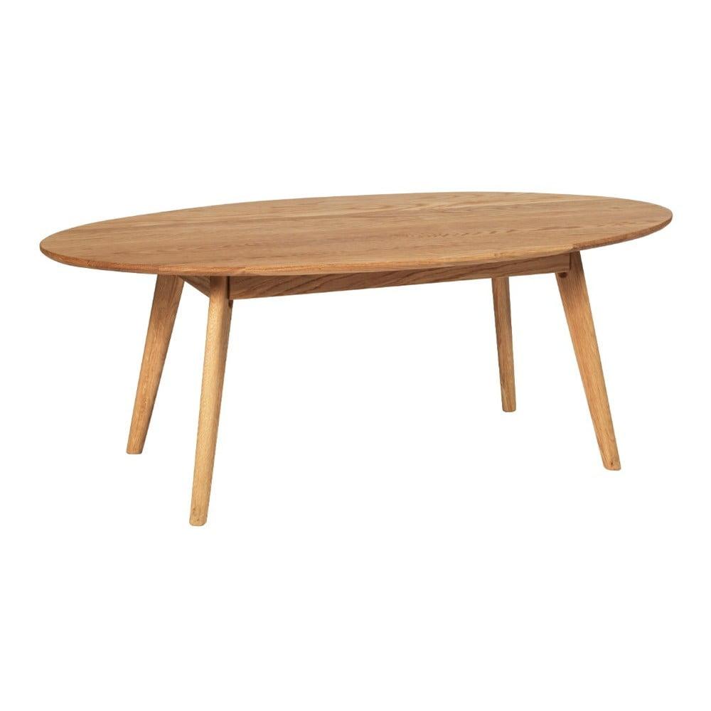 Přírodní konferenční stolek z dubového dřeva Folke Yumi, 130x65m