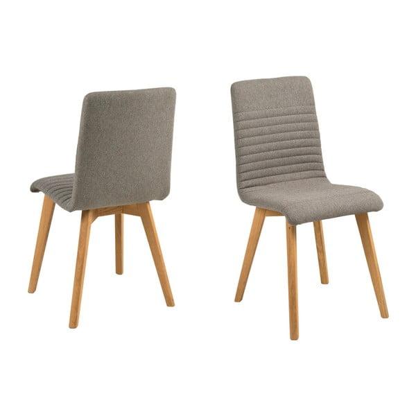 Zestaw 2 jasnoszarych krzeseł Actona Arosa