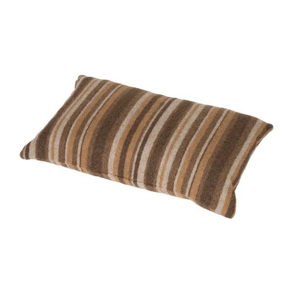 Hnědý polštář Stripes