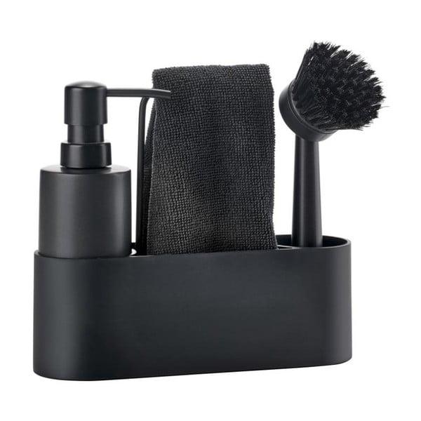 Set pentru spălarea veselei Zone Singles, negru