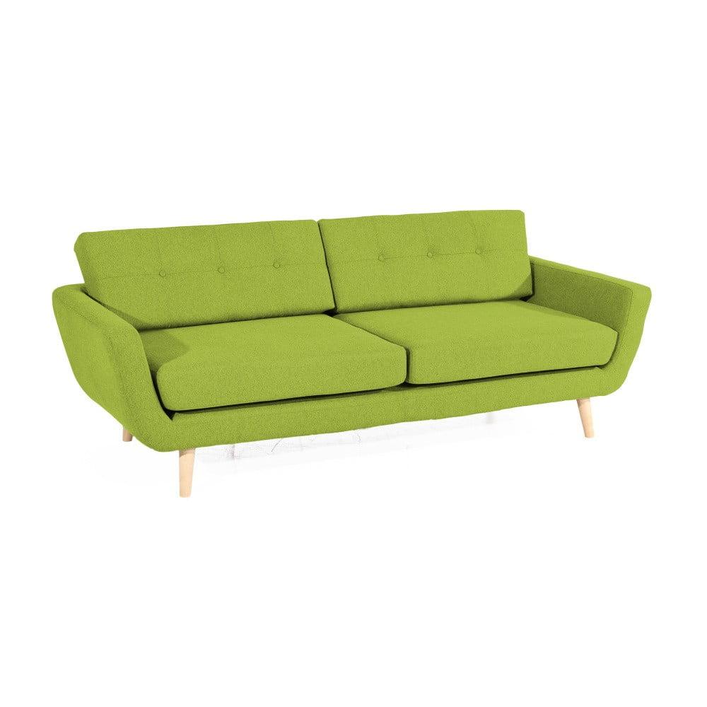 Zelená trojmístná pohovka Max Winzer Melvin