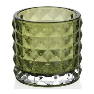 Zelený skleněný svícen Andrea House Greentea,7cm