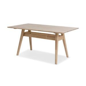 Masă din lemn de mesteacăn Kiteen Notte, 75 x 160 cm