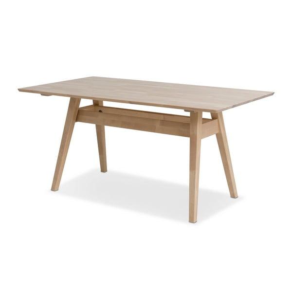 Notte kézzel készített tömör nyírfa étkezőasztal, 75 x 140 cm - Kiteen
