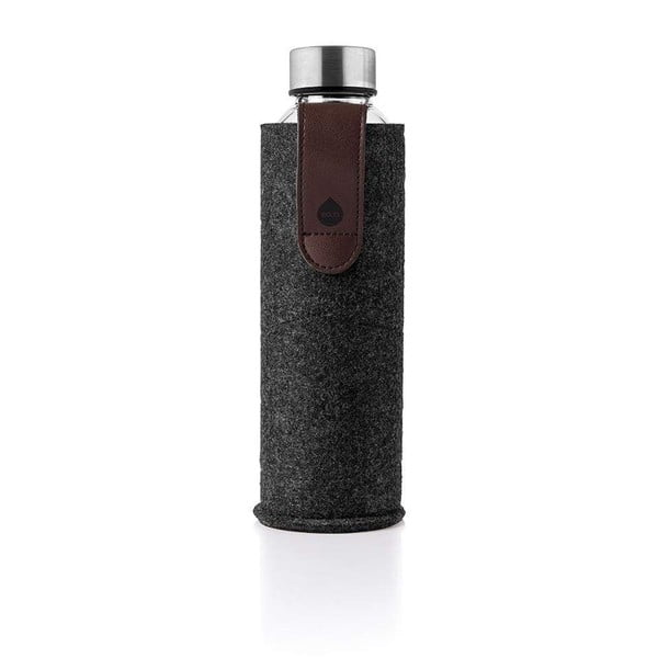 Skleněná láhev z borosilikátového skla s plstěným obalem Equa Mismatch Chocolate Night,750ml