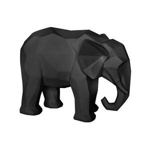 Matně černá soška PT LIVING Origami Elephant