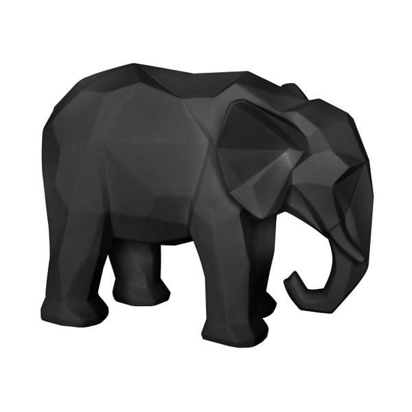 Origami Elephant matt fekete szobor - PT LIVING