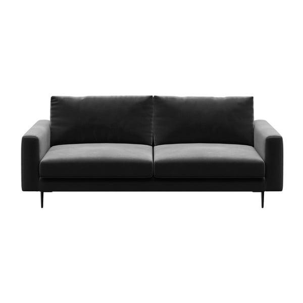 Levie sötétszürke háromszemélyes kanapé - devichy