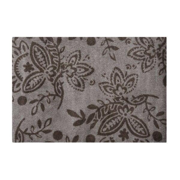 Rohožka Floral, brown/beige, 66x90 cm