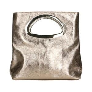 Kožená kabelka v bronzové barvě Chicca Borse Lumino