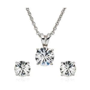 Sada náušnic a náhrdelníku s krystaly Swarovski Saint Francis Crystals Nuria
