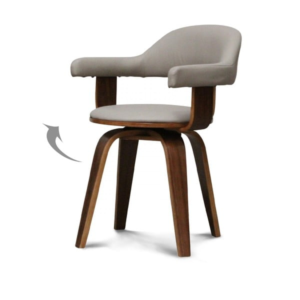 Otočná židle Suedoise Taupe