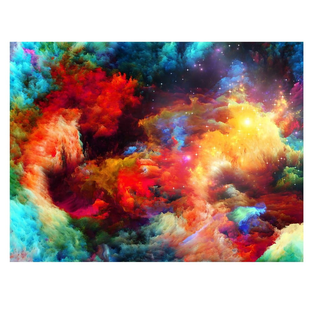 Obraz Homemania Colorful Galaxy 70 x 100 cm