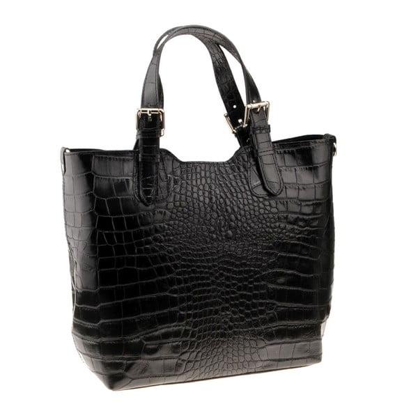 Černá kožená kabelka Florence Cembro