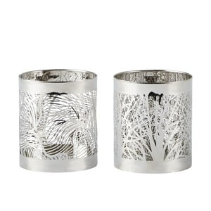 Sada 2 svícnů Villa Collection  Silver Stain, 7 cm